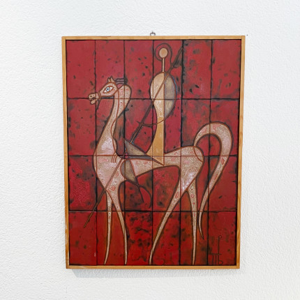 Ceramic wall panel by Panos Valsamakis