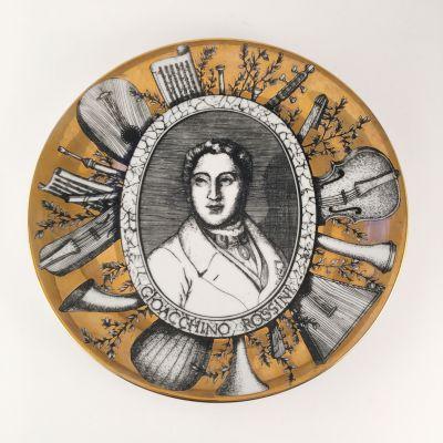 Fornasetti plate, Grandi Maestri, Rossini_0
