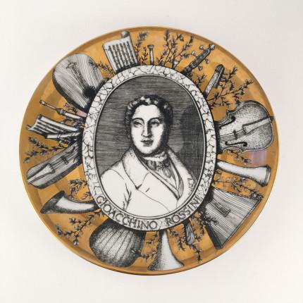 Fornasetti plate, Grandi Maestri, Rossini