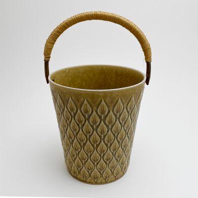 Vintage danish ceramic ice bucket by Jens Harald Quistgaard for Kronjyden Nissen_0