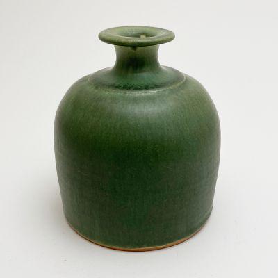 Vintage small green vase by Jean-Pierre Devaud_0