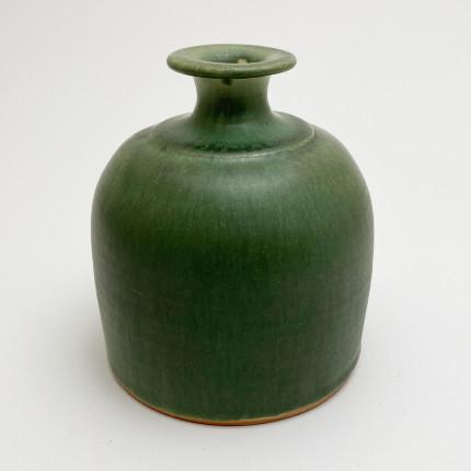 Vintage small green vase by Jean-Pierre Devaud