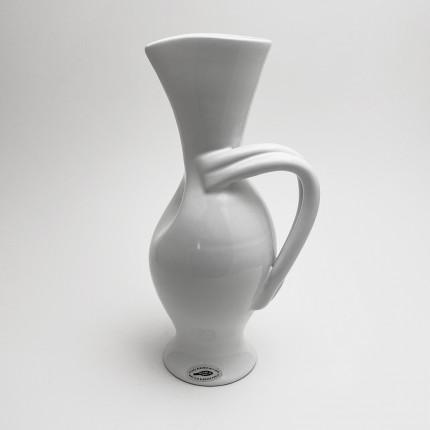 White ceramic vase by Margrit Linck