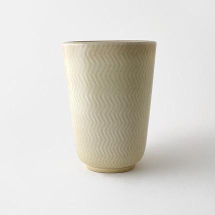 White ceramic vase Marselis by Nils Thorsson for Royal Copenhagen