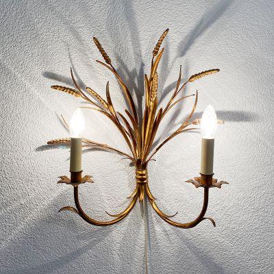 Vintage metal wall lamp by Hans Kögl, Germany_0