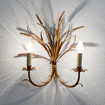 Vintage metal wall lamp by Hans Kögl, Germany