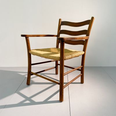 Vintage Swiss wooden armchair from Ticino_0