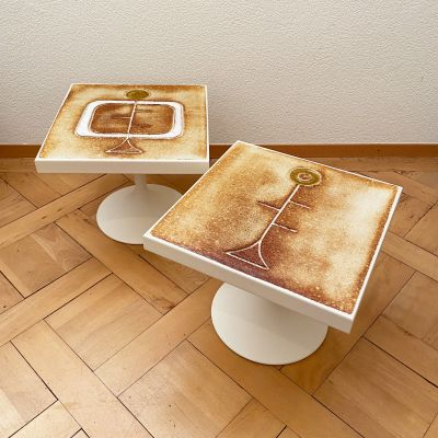 2 side tables by Roche-Bobois with ceramics by Gregorieff_0
