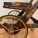 Tea trolley in lacquered goatskin by Aldo Tura, Milano_7