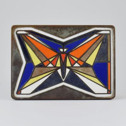 Enamel butterfly door handel