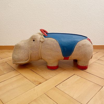 Large therapeutic toy hippopotame by Renate Müller_0